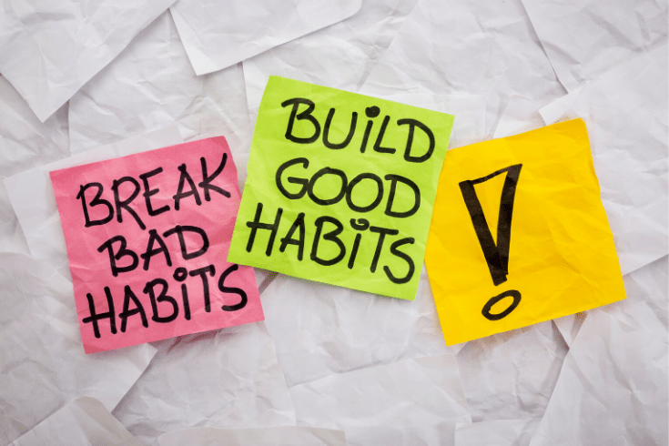 building good habits takes time