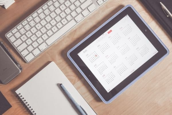 Work on your editorial calendar